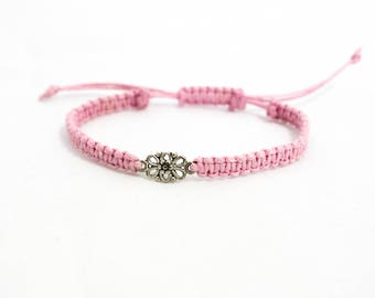 Summer gift bracelet | Flower charm bracelet | Macrame bracelet | Friendship bracelet | Macrame bracelet | Birthday bracelet | Graduation