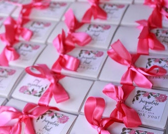 Wedding Alfajores Favors with Personalized Tag (FREE SHIPPING)