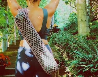 Cotton Crochet Yoga Mat bag