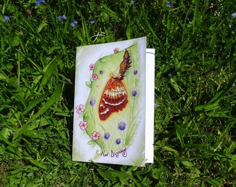 New Beginnings/Gratitude Journal/Thoughts and Dreams/Recycled Notebook/Journal/Fairy Notepad/Fairy art/Faerie art/Butterfly/Workbook