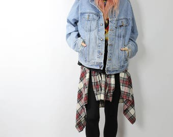 Lee Denim Jacket - Vintage Lee Outerwear - Oversized Baggy 90s Style