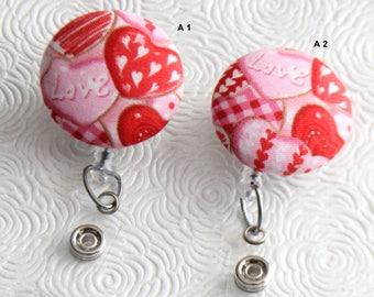 Hearts Galore ID Badge Reel/Nurse/Doctor/Medical/Teacher/School/Office/Valentine/Red/Pink/Romance/Caring/Love