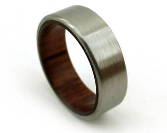 M1 Garand Ring, WW2 Uniform, WW2 Ring, Gun Wood Ring, Gunstock Ring, Black Walnut Ring, Dark Walnut Ring, History Ring Jewelry, Gun Stock