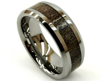 Tungsten Antler Ring, Tungsten Wedding Band, Tungsten Wedding Ring, Tungsten Carbide, Scratchproof Ring, Hunter's Ring, Natural Jewelry