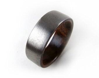 Yucatán Rosewood Ring, Handmade Ring, Wedding Ring, Etsy Ring, Wood Ring