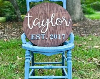 Family Established Sign | Last Name Sign | Custom Wedding Gift | Housewarming Gift | 3D | Wedding Established Wall Hanging | Wedding Gift