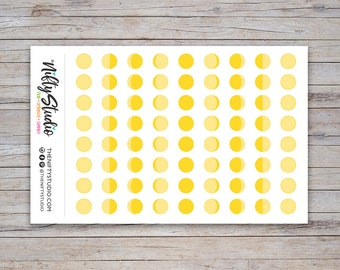 Moon Phases Stickers | Lunar Stickers | Planner Stickers | The Nifty Studio [180]