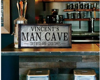 Man Cave Sign, Personalized Mancave Sign, Custom Bar Sign, Personalized Bar  Sign Metal
