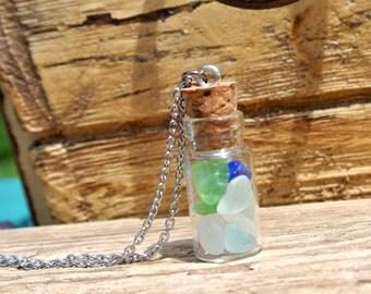 Tiny Lake Superior Sea Glass Pendant Necklace