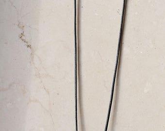 """Long necklace, """"Pieces of sky"""", polymer clay, unique, handmade, original design"""