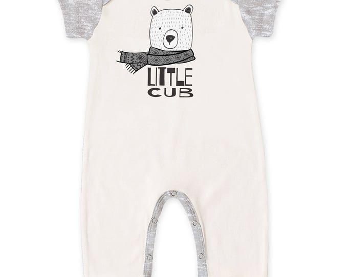 WINTER SALE! Newborn Baby Boy Coming Home Outfit Summer, Baby Bear Cub Gray Romper, Baby Girl Bear Romper Minimalist Bears Romper Tesa Babe