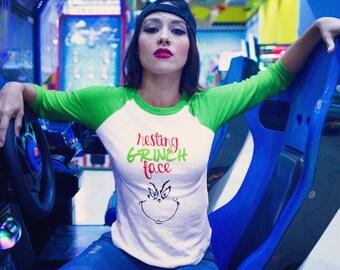 RESTING GRINCH FACE - Grinch - Funny Shirt - Christmas Shirt - Custom T shirt - Hoodie - Tank Top - Women's - Men's - Unisex - Youth