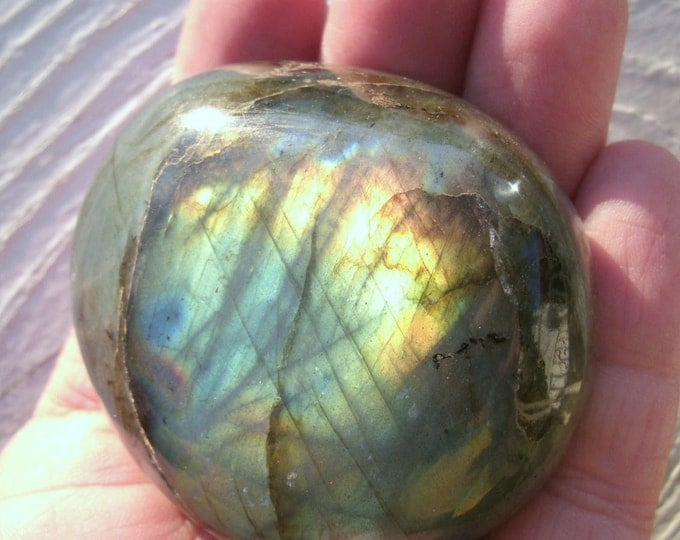 Labradorite Freeform Polished Palm Stone, Spectrolite, multi colored, meditation stone, metaphysical, crystal healing, Stone of Magic, OOAK