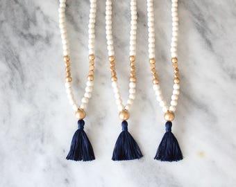 Georgia Tech Tassel Necklace