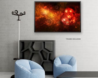Framed Red Planet, Space Poster Art, Framed Universe Art Poster