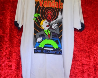 SALE Vintage 1997 The Vandals The Quickening Rare Punk t-shirt