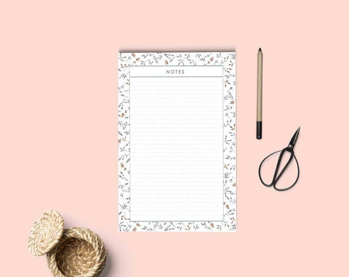 Notepad printable | Notes page printable | To do list printable | Organization list notapads | Stationery notepad .Instant download notepad.