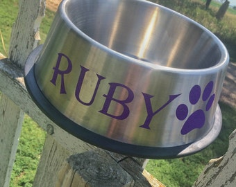 Personalized Stainless Steel Dog Bowl