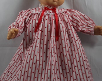 "Hand Sewn Baby Doll Clothing Dress for 14-16"" Dolls (Shown on 15"" Bitty Baby, Doll Not Included)"