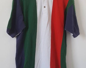Vintage colorblock polo, 1990s, small/medium
