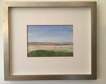 Approaching First Encounter Beach  /  Matted and Framed