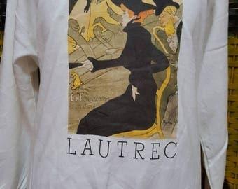 Vintage DIVAN JAPONAIS / Lautrec designed on 1892 / Medium size / very nice sweatshirt (AL 50)