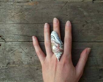 Porcelain Ring, Ceramic Ring, Handmade Porcelain, Ceramic Jewelry, Unique Ring, White Porcelain