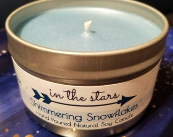 Shimmering Snowflakes Soy Candle