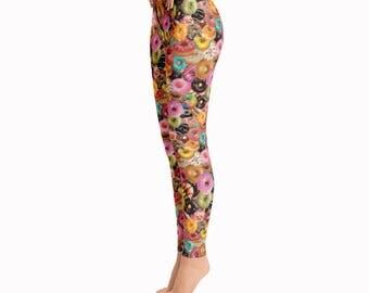 J Dilla loves Donuts Leggings / Printed Leggings / Colorful Leggings / Music Leggings / Food Leggings / Donut Leggings / Fun Tights