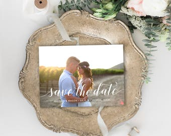 Printed Photo Save the Date Cards // Premium Card Stock and Envelopes Included