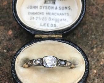 Georgian Rock Crystal and Diamond Ring