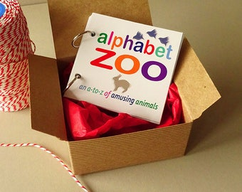 ABC book,  creative learning kids gifts under 20, animal alphabet gift for new mom, alphabet letters, early learning abc animal letter