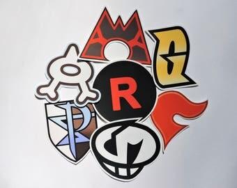 Evil Teams Pokemon 7 Piece Sticker Pack