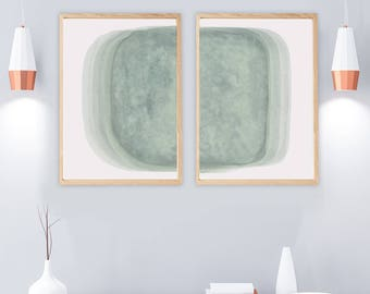 Superbe Set Of 2 Prints, PRINTABLE Art Print Set, Wall Art Set, 2 Abstract