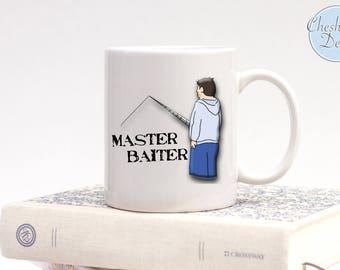 Master Baiter Mug, FisherMan Mug, Angler, Baiter, Angling Mug, Fun By The Lake, Fishing Is Life, Fishing is For Real Men