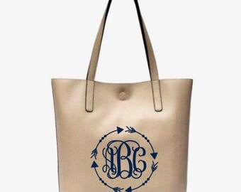 Monogram Purse, Monogram Leather Tote Bag, Faux Leather, Monogrammed Handbag, Monogrammed Purse, Tote bag, Purse
