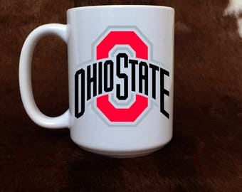 Ohio State mug, football cup, Buckeye fan, gift item, coffee mug, gift for him, gift for her, teacher gift