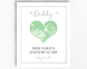 First Father's Day Gift, Dad to be Gift, From the Bump, Unique Father's Day Gift, One of a Kind Gift, Ultrasound Print, Personalised Print