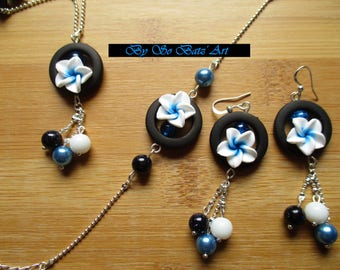 Set 3 pieces of exotic flowers