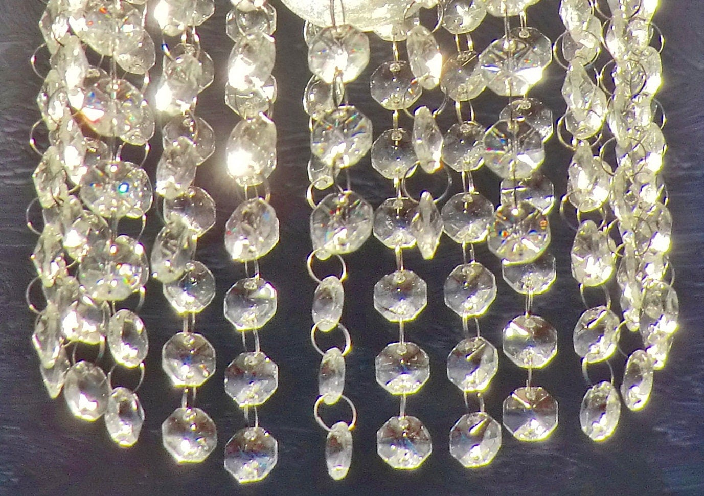 14mm Chandelier Drops Parts Clear Cut Glass Crystals Droplets ...