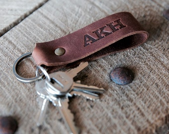 Personalized Gift The Tucker Leather Keychain Key Chain Gifts for Him, Gifts for Her