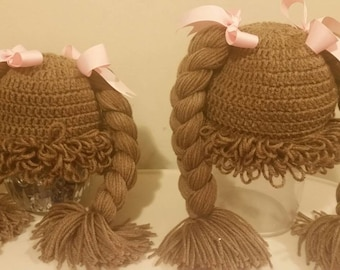 Crochet Cabbage Patch Hat