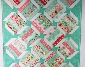 Baby Quilt, Baby Quilt Girl, Baby Quilts for Sale, Baby Quilts Handmade, Nursery Bedding, Modern Baby Quilt, Handmade Quilt, Nursery Bedding