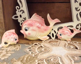 Absolutely Adorable Fish Family Wall Hanging