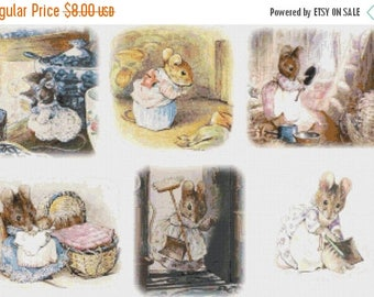 "Hucca Mucca by  potter  point de croix, needlepoint, needlework - counted Cross Stitch Pattern - 23.64"" x 15.71""  - L1151"