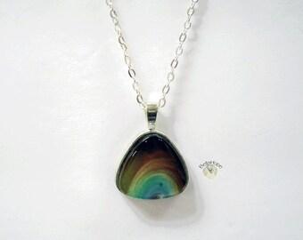Triangle Chakra Swirl Segment Necklace #216