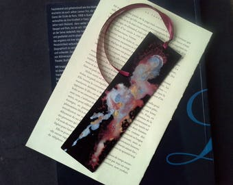 "black leather ""astral breath"" bookmark"