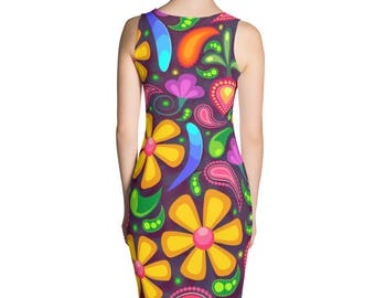 Colourful flower pattern Sublimation Cut & Sew Dress