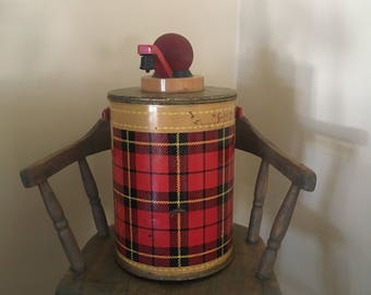 Red plaid thermos 1 gallon