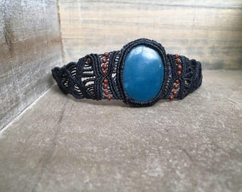 Navy Blue Arm Bracelet